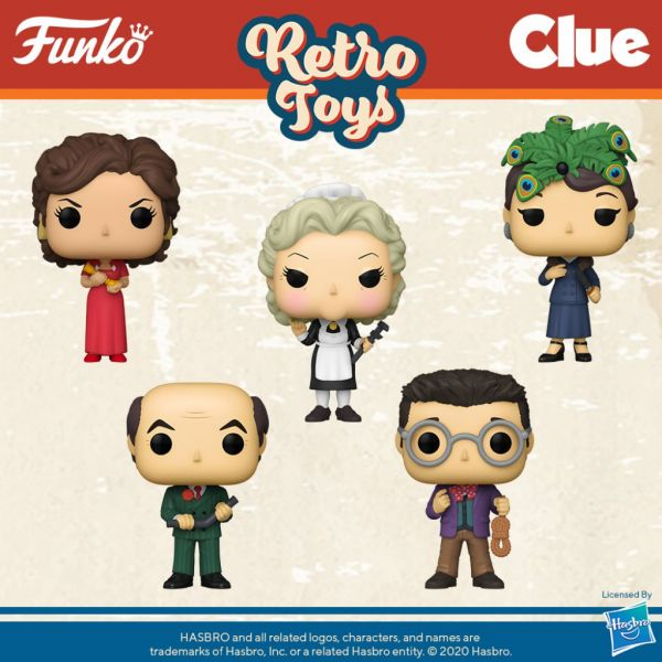 """Postacie z gry """"Cluedo"""" staną się bardziej rzeczywiste dzięki Funko!"""