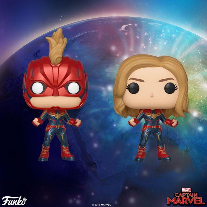 Kapitan Marvel nadciąga do kin i do oferty figurek Funko