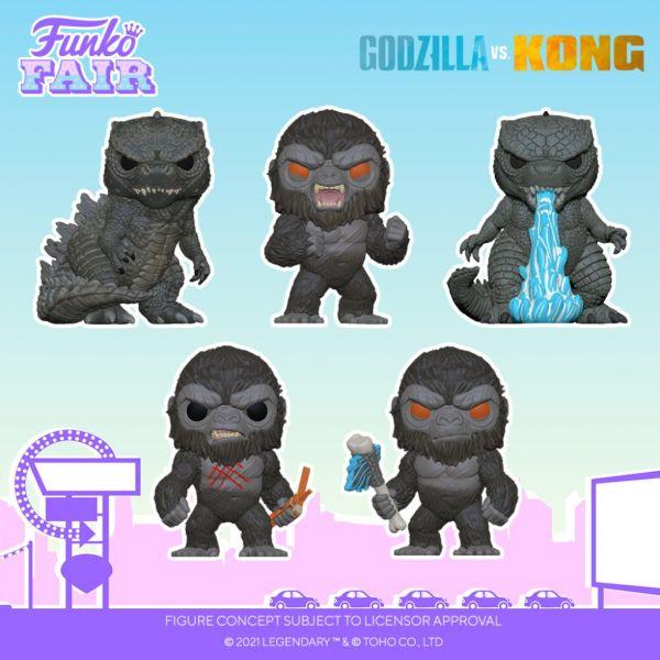 """Opowiedz się po jednej ze stron! """"Godzilla kontra Kong"""" otrzymająswoje figurki."""