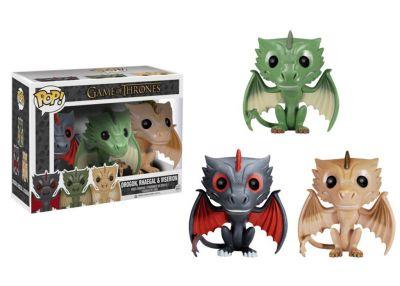 Gra o Tron - Drogon, Rhaegal & Viserion 2