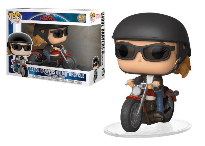Kapitan Marvel - Carol Danvers na motocyklu