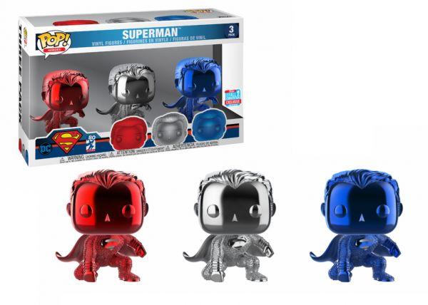 Liga Sprawiedliwości - Superman (Chrome - 3pak)